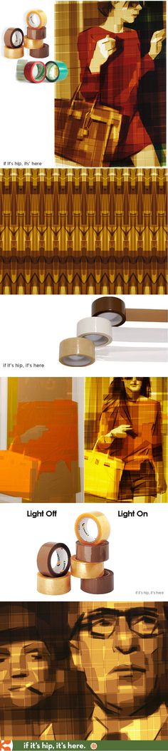 And you thought packaging tape was for shipping boxes - Incredible Art Made With Packing Tape.