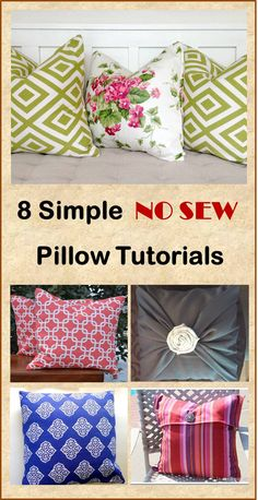 8 Simple No Sew DIY Pillow Tutorials. to add color or personal touch to your room you can make these DIY pillows with 8 simple no sew pillow tutorials