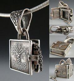 Wanaree Tanner amazing Book of Kells locket! Cute Jewelry, Jewelry Accessories, Jewelry Design, Jewelry Ideas, Antique Jewelry, Silver Jewelry, Vintage Jewelry, Silver Earrings, Silver Lockets