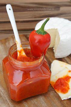 Confettura di peperoncini piccanti fatta in casa ricetta - homemade red chili pepper jam recipe