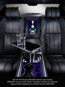 "Back seat of the All-New 2013 Jaguar ""Designer's Choice"" XJL Ultimate Package http://www.jaguarorlando.com/"