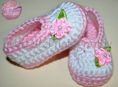 Size 3-6 months Handmade Crochet Baby Booties by Hooked4Babies