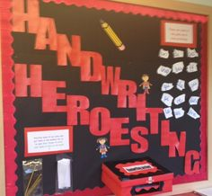 Will anyone in your class be a handwriting hero? Ks1 Classroom, Superhero Classroom Theme, Classroom Supplies, Classroom Themes, Phonics Display, Literacy Display, Reading Display, English Classroom Displays, Class Displays