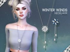 Sims 4 Updates: TSR - Accessories, Jewelry : Winter Winds Necklace by Pralinesims, Custom Content Download!
