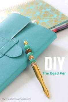 You can create your own beautiful bead pen. Such a simple yet beautiful DIY. Makes great Mother's Day, Birthday, Graduation gifts. Also the perfect partner for your planners. Cute Planner, Planner Tips, Happy Planner, Planner Supplies, Planners, Personalised Pens, Cute Stationery, Stationary, Planner Organization