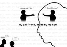 """내 여자친구   복사 http://buddha-on.net/150189806354    """"내 인식 속에 살고 있는 여자친구는, 내 눈 앞에 서 있는 여자친구랑 서로 모르는 사이란다."""""""