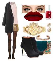 """""""Night Out"""" by kolo-k on Polyvore featuring Fogal, Micky London, Lanvin, Vera Mont, Mestige, Kate Spade, Essie, Repossi, women's clothing and women's fashion"""