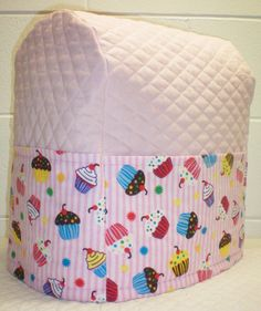 Pink Quilted Cupcake Cover for Sunbeam Heritage Series 4.6qt Mixmaster Stand Mixer w/6 Pockets