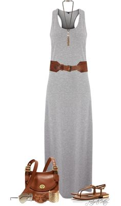 Summer maxi dress outfit - It's so simple and cute.