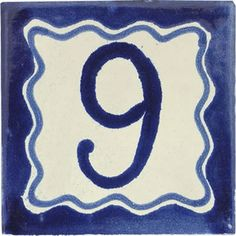Street numbers from Mexico handmade of talavera tiles look great on the house exterior. They are decorative making locating a property easy. Painting Ceramic Tiles, Number 9, Street House, House Numbers, Hand Painted Ceramics, Wall Tiles, Elegant, Art, Hand Painted Pottery