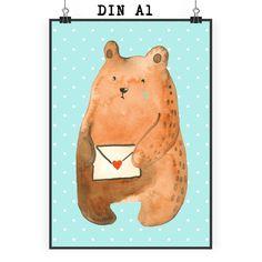"""Poster DIN A1 Bär Ich vermisse dich aus Papier 160 Gramm  weiß - Das Original von Mr. & Mrs. Panda.  Jedes wunderschöne Poster aus dem Hause Mr. & Mrs. Panda ist mit Liebe handgezeichnet und entworfen. Wir liefern es sicher und schnell im Format DIN A2 zu dir nach Hause. Das Format ist 549 x 841 mm    Über unser Motiv Bär Ich vermisse dich  Das wunderschöne Motiv  """"Ich vermisse Dich"""" Bär ist ein ganz besonderer Liebesbeweis. Hiermit zeigt ihr einen anderen Menschen wie sehr ihr an ihn denkt…"""