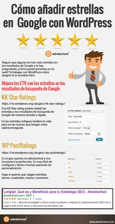 Cómo añadir estrellas en Google con Wordpress #infografía #infographic  #SocialMedia