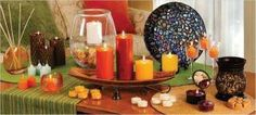 Sampling of the Global Inspirations line, with Amaretto Swirl warmer and Aurora