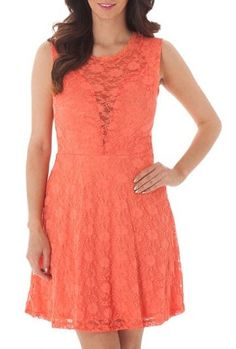 #Coral #Lace #Dress <3 *Click Image to find item*
