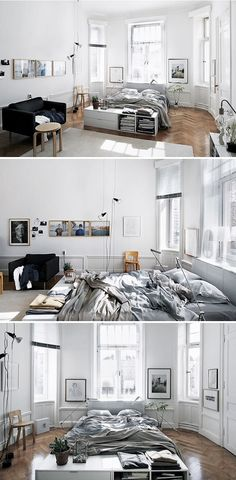 The way that your apartment is styled largely is dependent on your personal preferences. It's easy and functional, exactly what the apartment requirements. So, since you can see, the apartment is not quite as tiny as you may think. Deco Studio, Studio Apartment Decorating, Lofts, My New Room, Home Bedroom, Target Bedroom, Bedroom Ideas, Apartment Living, Cozy Apartment