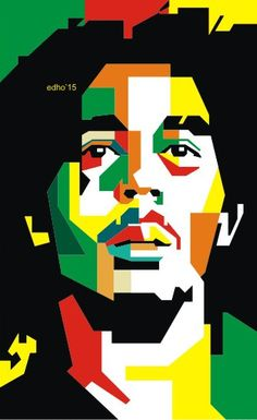 Bob marley in WPAP by EDHO by edhoartwork