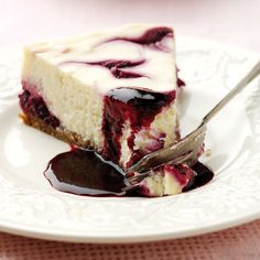 Blackcurrant cheesecake: Recipes: Food   Red Online
