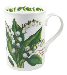 English Floral Lily of the Valley  Mug - What better way to enjoy a cup of tea than in an elegant, bone china tea mug?