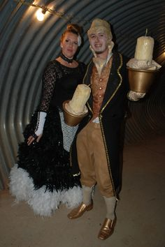From Beauty and the Beast: Lumier and Babette #ThinkGeekoween