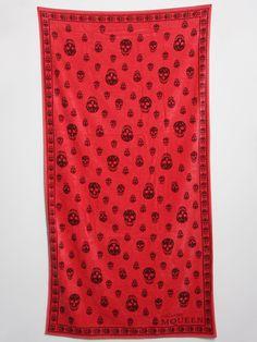 The Alexander McQueen Beach Skull Beach Towel for spring/summer '11 - seen here in pink.