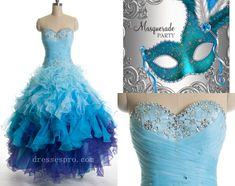 gorgeous blue masquerade ball gowns