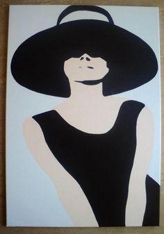 Audrey Hepburn Pop Art Canvas Painting XL, pined from Daniela Filipe Costa Pop Art, Arte Pop, Audrey Hepburn Kunst, Audrey Hepburn Painting, Audrey Hepburn Illustration, Vintage Cartoons, Illustration Art, Illustrations, Andy Warhol