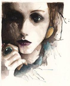 Watercolor Paintings by Rosaria Battiloro #watercolor #artwork