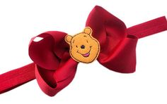 Winnie the Pooh Bear Hair Bow and Head band Kit  by HairBowHolders, $10.90