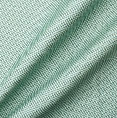 Green Geometric Cotton Backed Linen