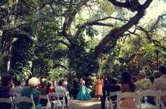 Oak Pavilion Wedding Ceremony At Sunken Gardens St Peterburg Fl Want More Floweeeeers