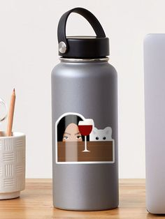 """""""The attack"""" Sticker by Loucreations 