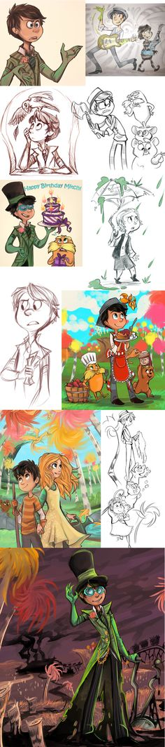 I was looking through some of my folders and came across all this. It's kind of scary that I have a folder ju. Once-ler stuff 3 Character Design Cartoon, Character Sketches, Character Illustration, Character Art, Illustration Art, The Lorax, Sharpie91, Cartoon Drawings, Art Drawings