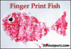 Finger Print Fish - Swimmy - Virtual Book Club For Kids - 3Dinosaurs.com