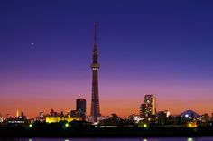 Tokyo - Tokyo Skytree rises to the sky while Tokyo Tower and Mt. Fuji look on. Tokyo Skytree, Tokyo Tower, Tokyo Japan, Japan Travel, Fuji, Cn Tower, Places Ive Been, Scenery, Asia