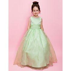 robe de bal bijou rez-de-longueur organza sur satin robe fille fleur – EUR € 74.24