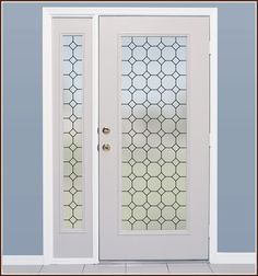 Tudor Leaded Glass Privacy Window Film - Frosted Window Covering