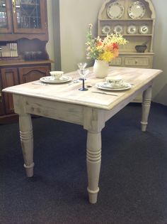Farmhouse shabby chic dining table