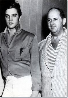 Elvis Presley with Colonel Parker - October 5, 1956