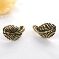 Leaf Earrings  Copper - One Size