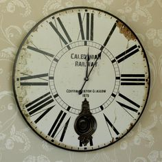 Large Pendulum Railway Wall Clock New Items Melody MaisonR