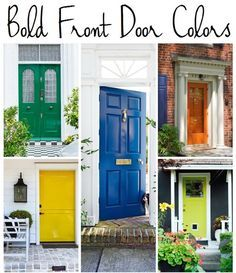 5 Bold Paint Colors For The Front Door
