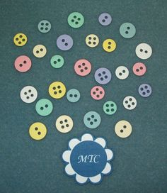 Scrapbook Die Cut Small Embossed Buttons by MiniTreasureChest, $3.00