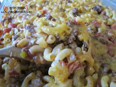 Poor Man's Hamburger Casserole - this cheesy pasta bake is perfect for eating on a budget.