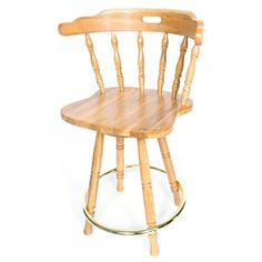 Solid Medium Oak Back Swivel 24-inch Barstool  sc 1 st  Pinterest : oak bar stools swivel with backs - islam-shia.org