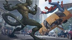 Spider-man vs Lizard