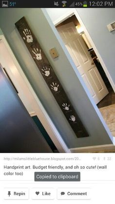 This would be a great idea for height measurements rather than making marks on the wall...
