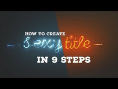 Blender Tutorial: Create Sexy Title in 9 Steps - YouTube