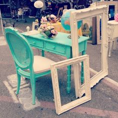 shabby chic turquoise furniture