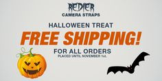 To celebrate our first Halloween together, we offer FREE SHIPPING until for all #Redier #HandCrafted, #GenuineLeather #CameraStraps until November 1st.