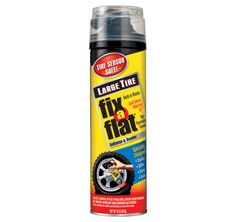 Seal a flat tire quickly with a can of Fix A Flat.